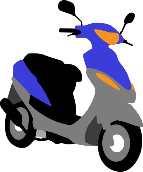 Scooter clipart transportation.