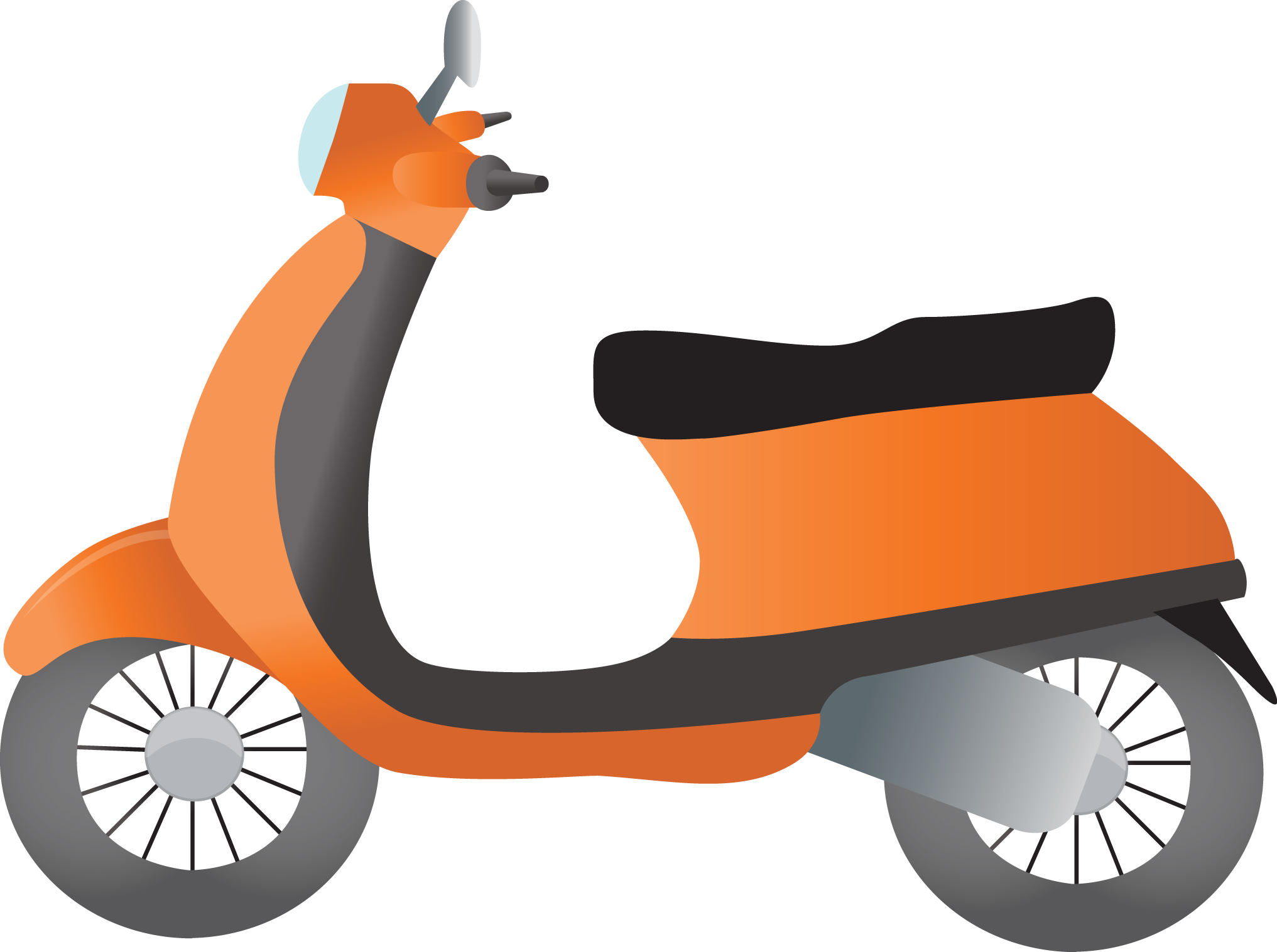 Scooter vector animated. Graphic transparent stock