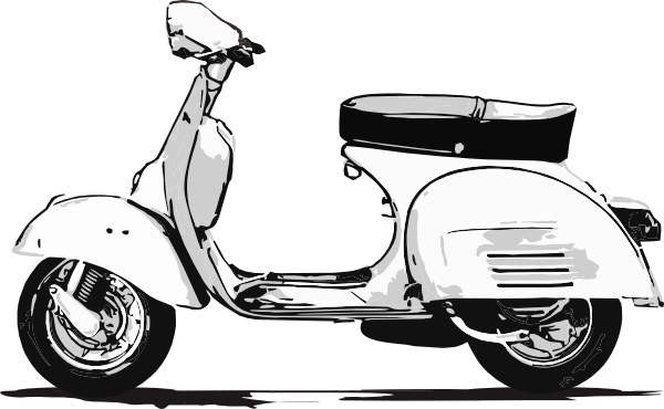 Scooter vector old. Free vespa cliparts download