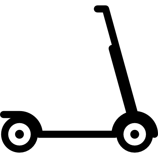 Scooter vector kick. Free transport icons icon