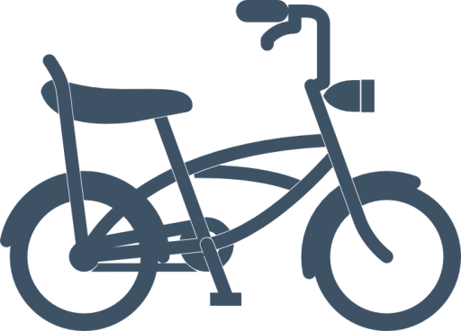 Scooter vector sepeda. Bike pack icons