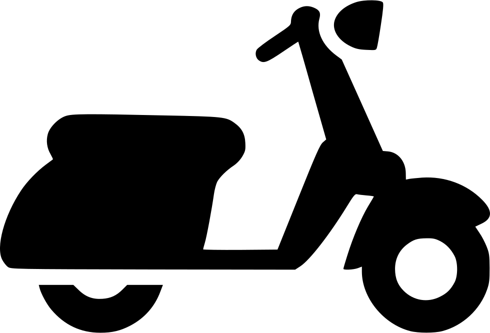 Scooter vector svg. Vespa motorbike png icon