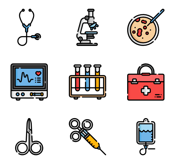 Scope vector. Icons free medical instruments