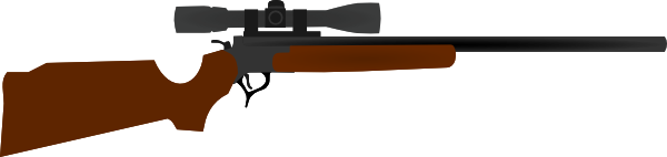 Scope vector animated. Huting rifle with clip