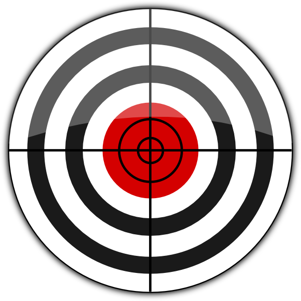 Scope vector shooting target. B icon clip art