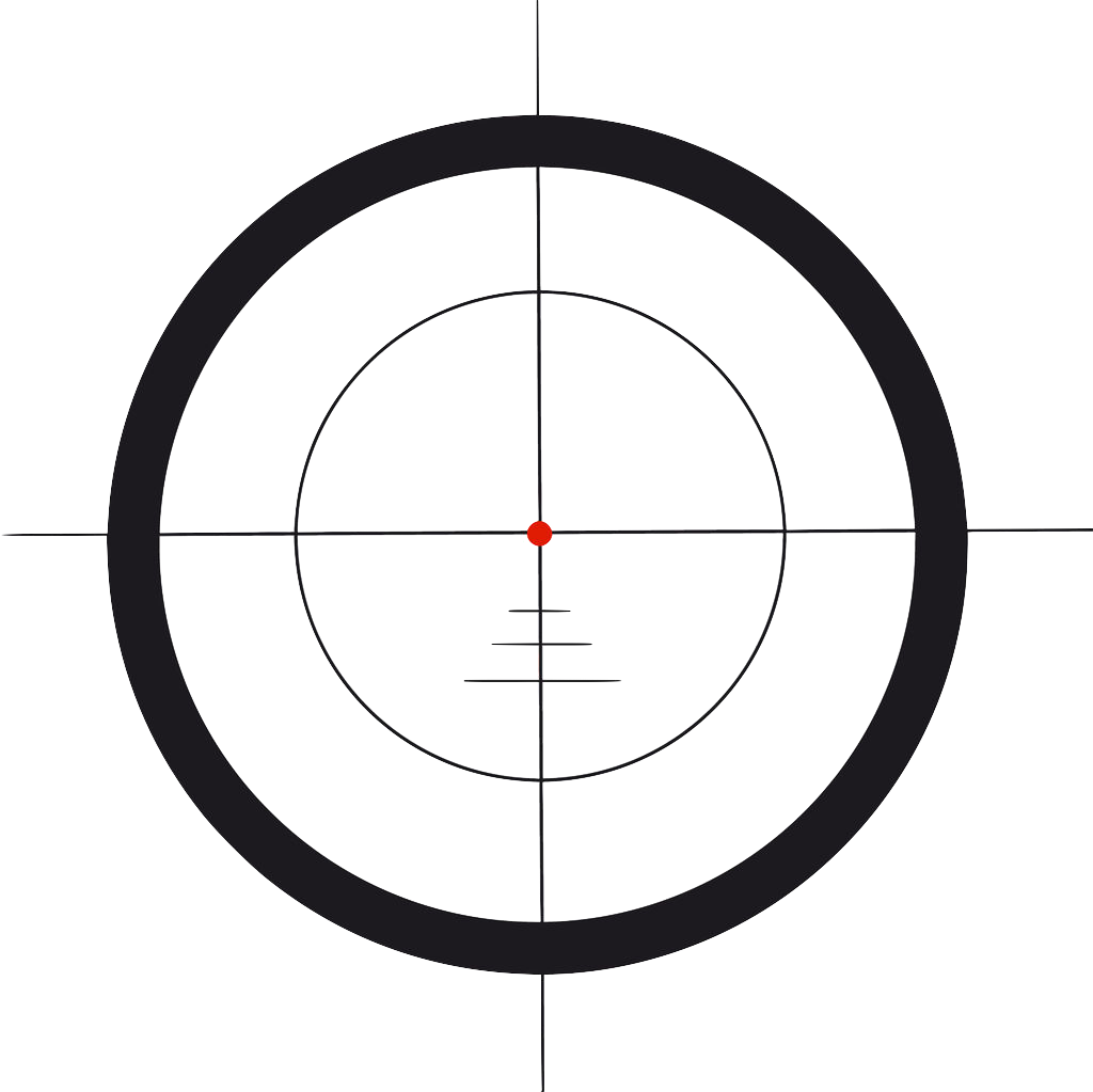 Scope vector. Circle point angle font