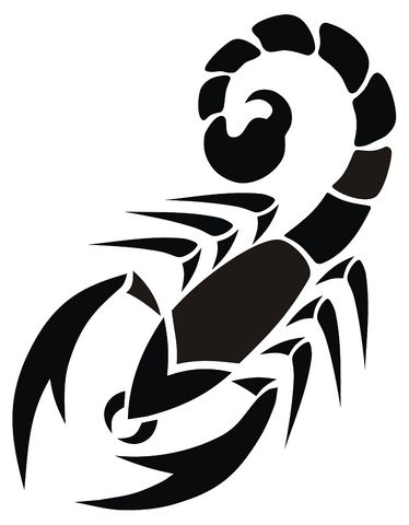 Scorpion clipart png black and white download