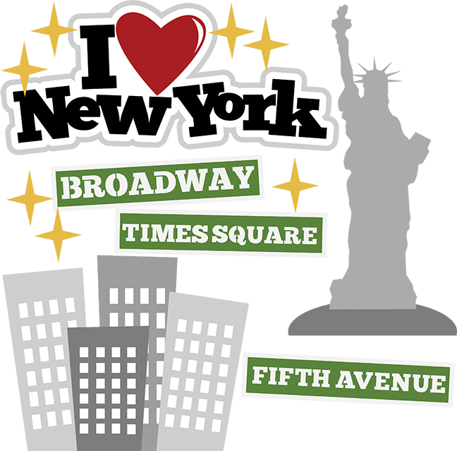 Scrapbook clipart. I heart new york