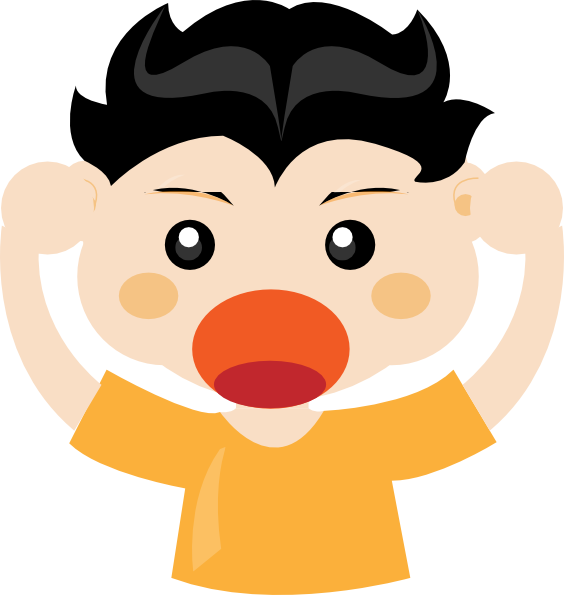 Yell clipart screaming. Free boy scream cliparts
