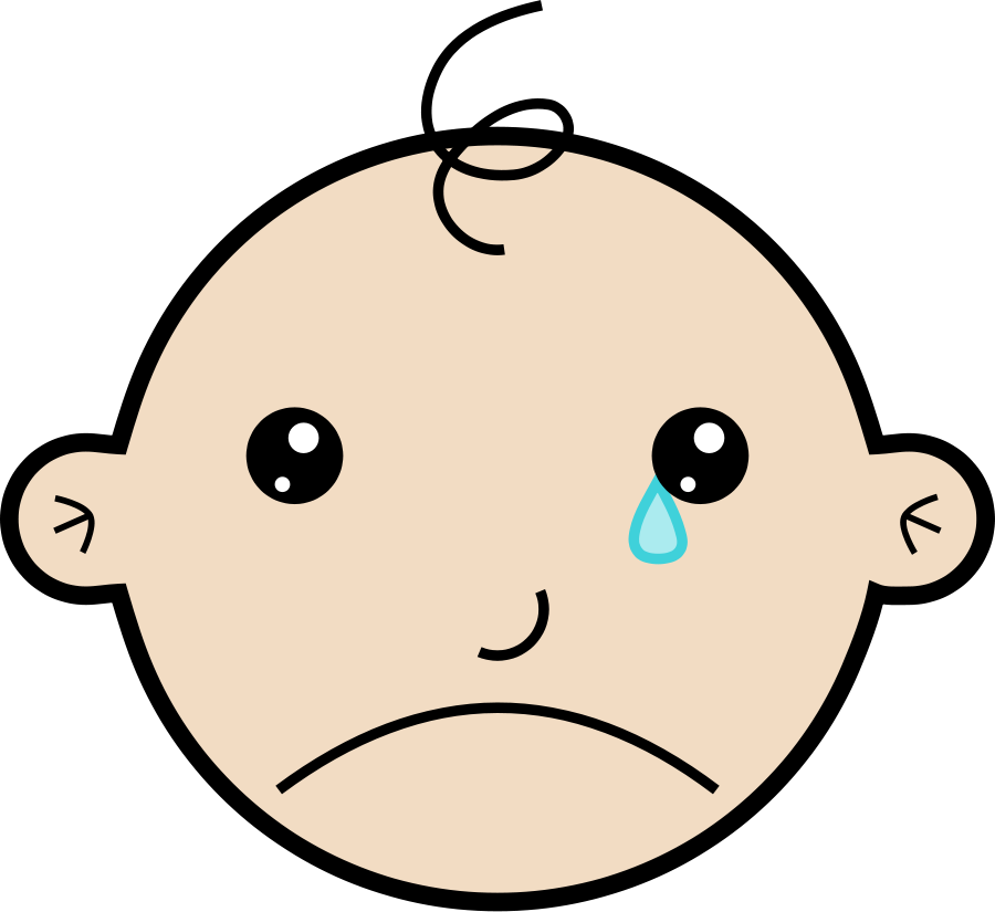 Crying clipart. Free baby download clip
