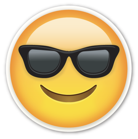 Scream emoji png. Smiling face with sunglasses