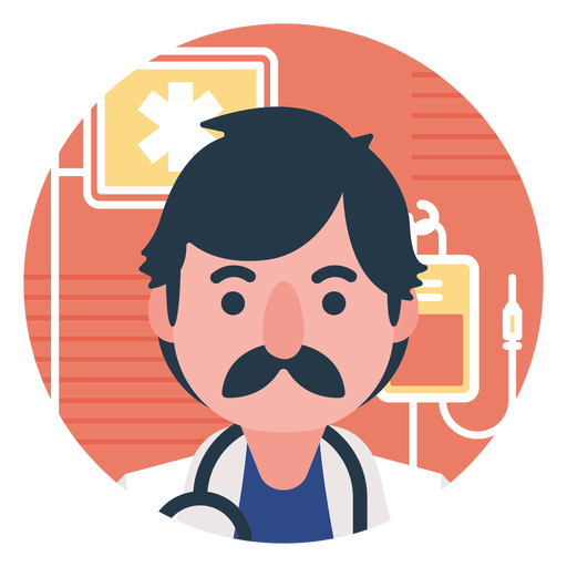 Vector offices medical office. Flat doctor cartoon png