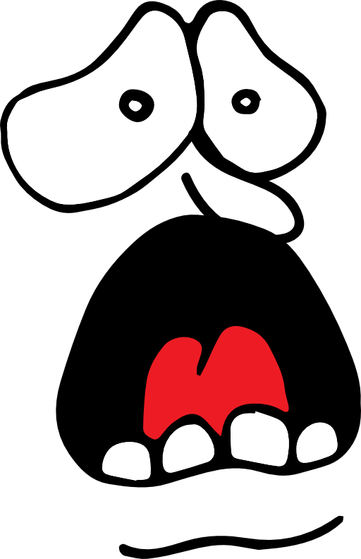 Scream face icon i. Yell clipart screaming vector black and white