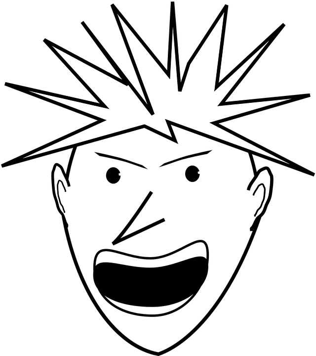 Screaming face png. Yelling free transparent images