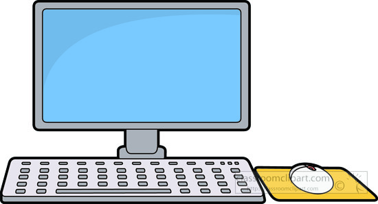Screen clipart keyboard. Pencil and in color