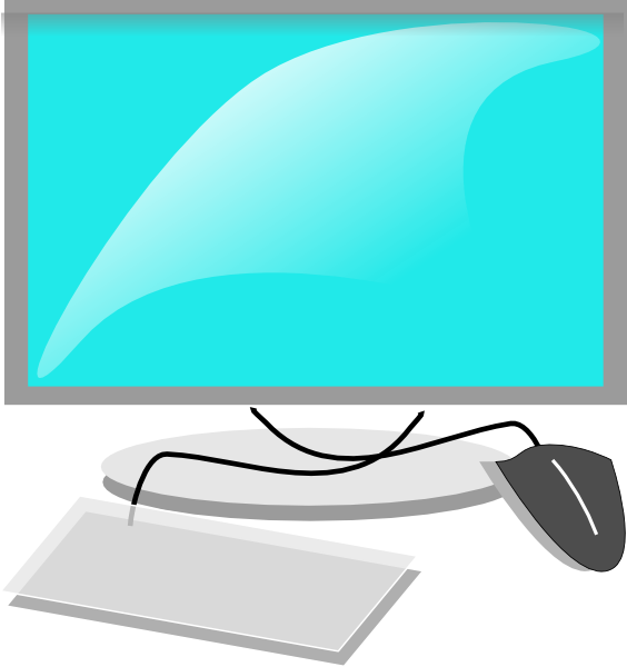 Screen clipart keyboard. Computer with mouse and