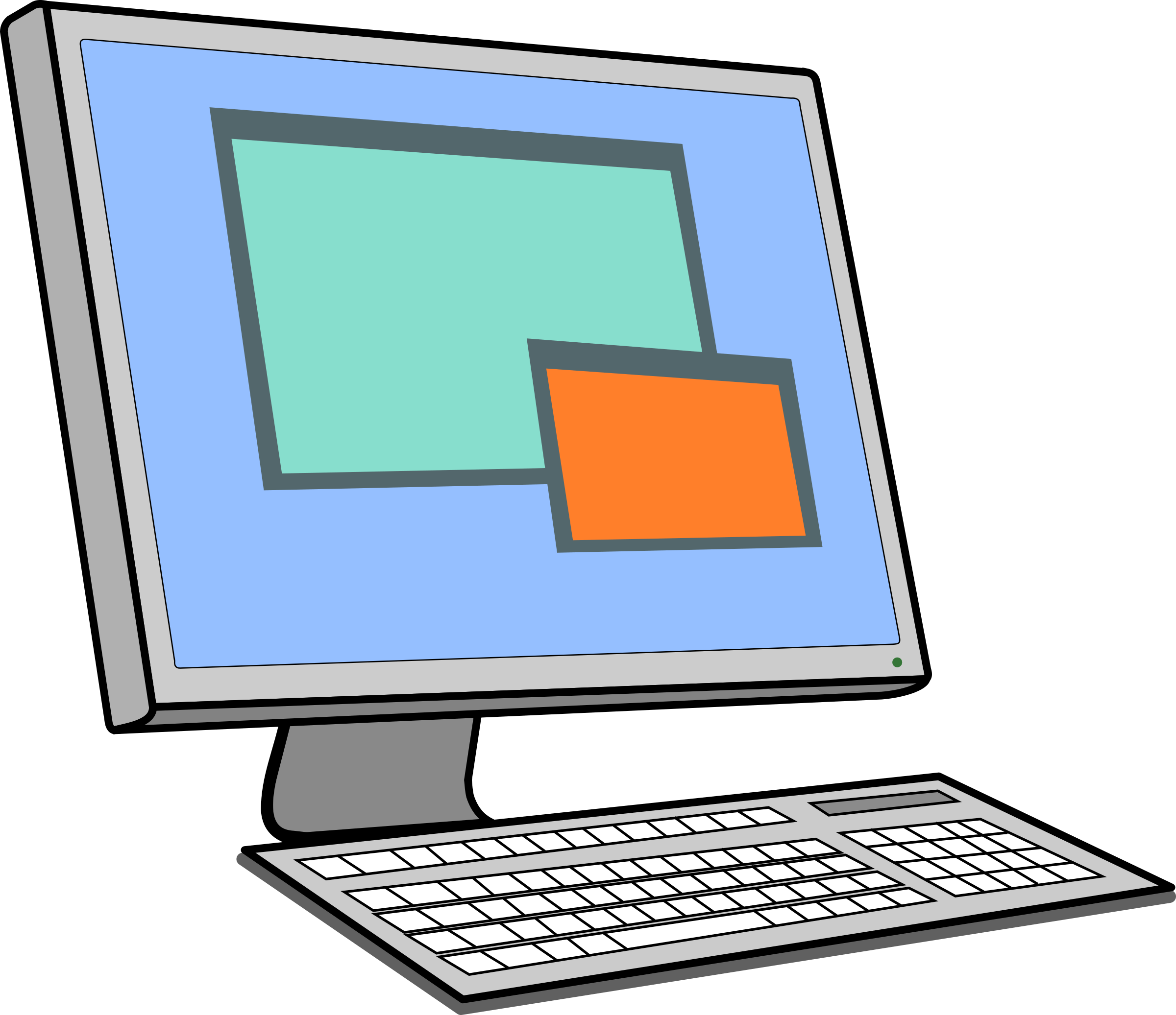 Screen clipart keyboard. And big image png