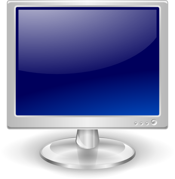 Screen clipart lcd. Monitor clip art at