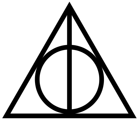 Wand transparent deathly hallows. Symbol pegatinas pinterest google