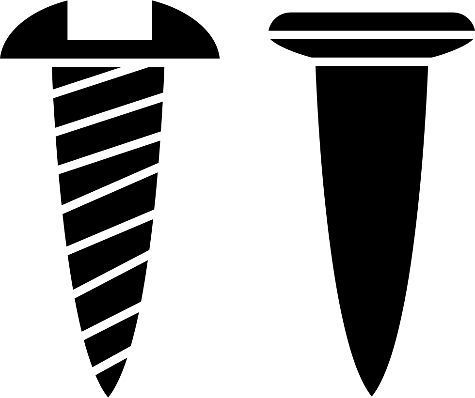 Screw svg thin. And nail outlines side