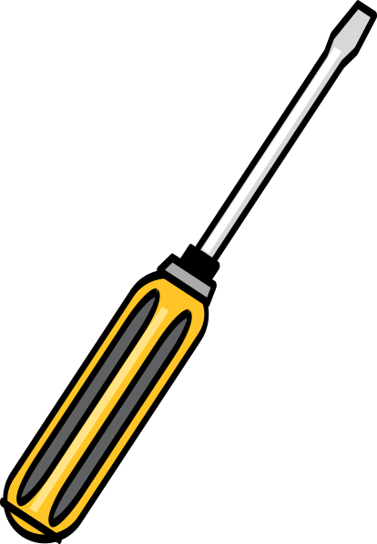 Vector screw name. Screwdriver clip art clipart
