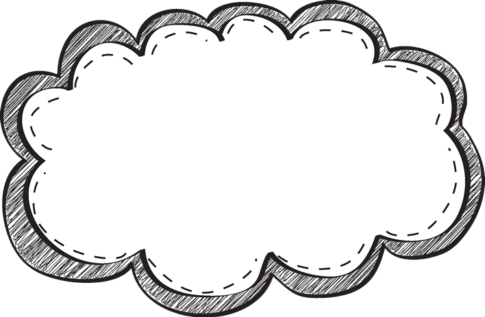 White scribble png. Black and border free