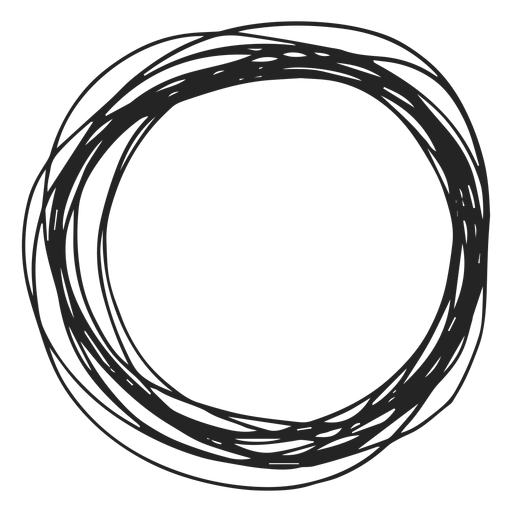 Scribble circle png. Element transparent svg vector