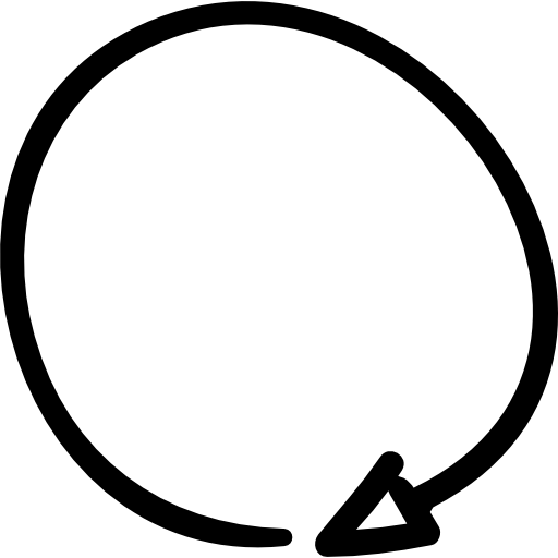 Scribble circle png. Turn right sidestep arrows