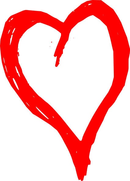 Scribble heart png. Red clip art at