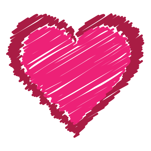 Scribble heart png. Red love like bookmark