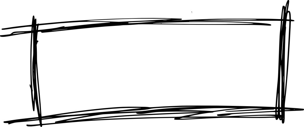 Scribble square png. Rectangle banner transparent