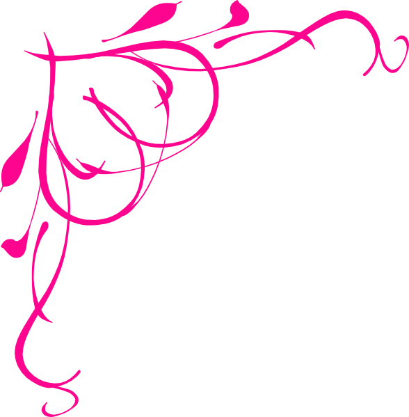 Scroll borders png. Pink frame clip art