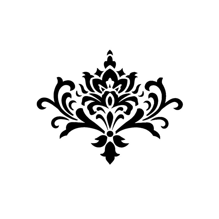 Clip art graphic original. Scroll clipart damask jpg black and white download