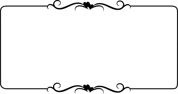 Scroll clipart simple embellishment. Word clip art wedding