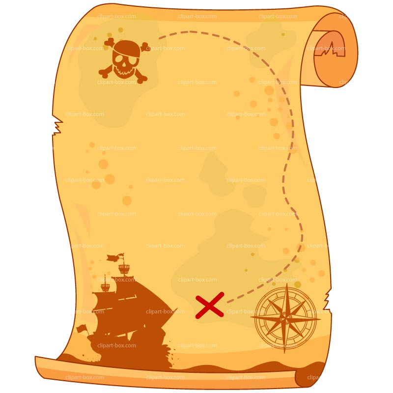 Scroll clipart treasure map. Best photos of pirate