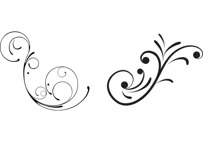 Scroll vector. Free swirly floral scrolls