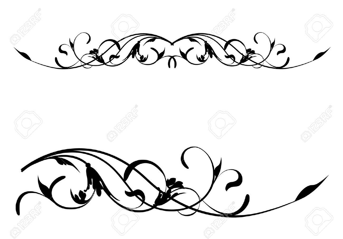 Scrolls clipart design pattern. Floral scroll inside free