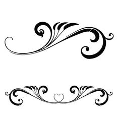 Scrolls clipart long scroll. Set of ornate and