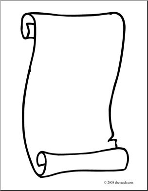 Scrolls clipart template. Photos of free scroll