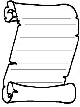Scrolls clipart template. Blank scroll free printable