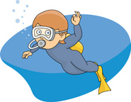 Scuba clipart animated. Sports free diving to