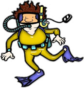Scuba clipart animated. Diving
