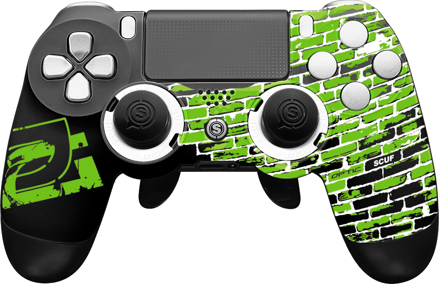 Scuf gaming png. Optic greenwall playstation