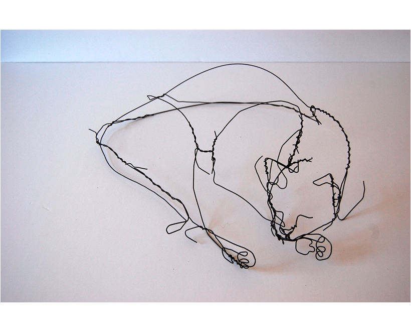 Sculptural drawing cool. One off magazine artist
