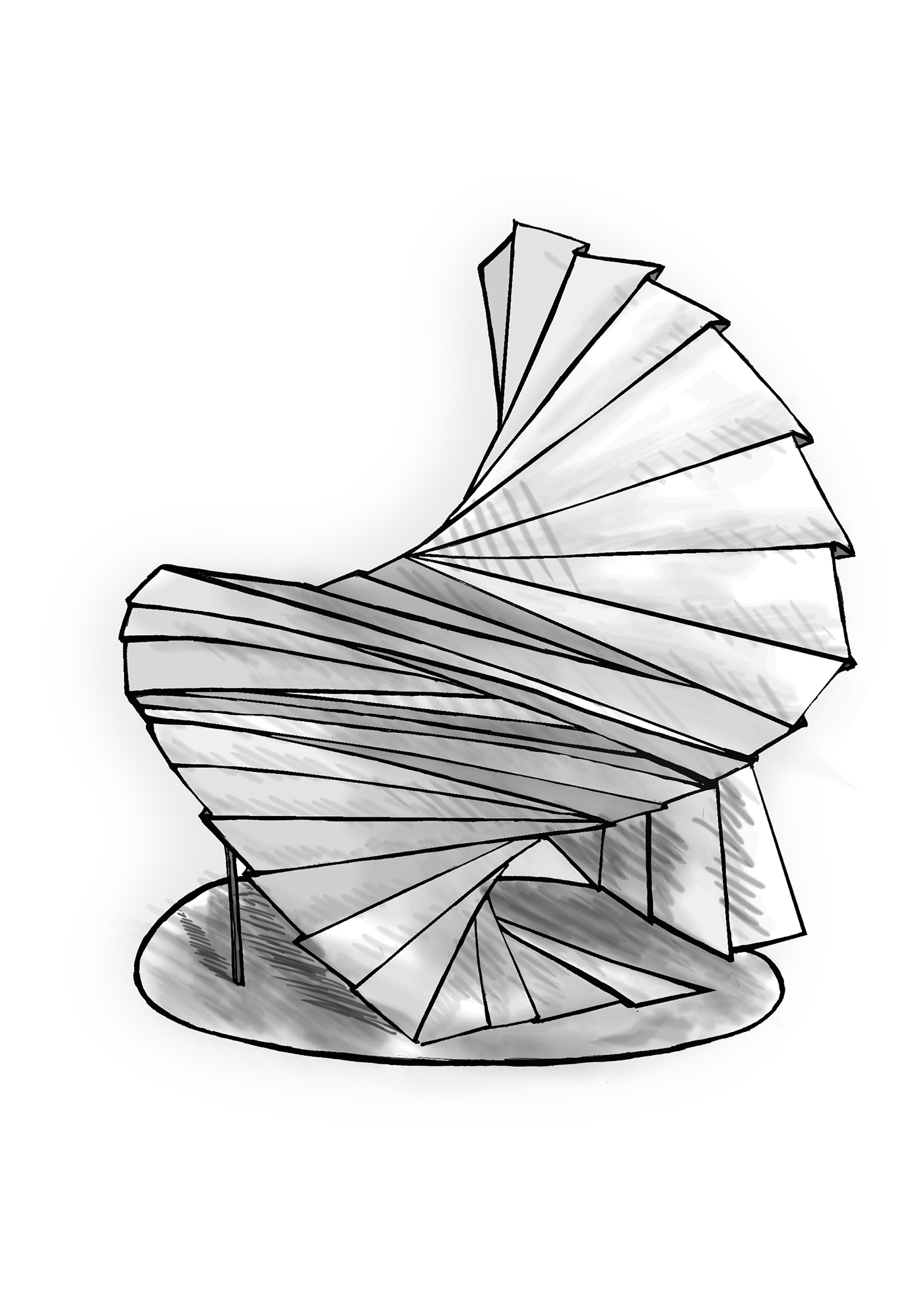 Sculptural drawing architectural. Paper sculpture on behance
