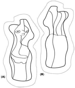 Sculptural drawing body. Design template for a