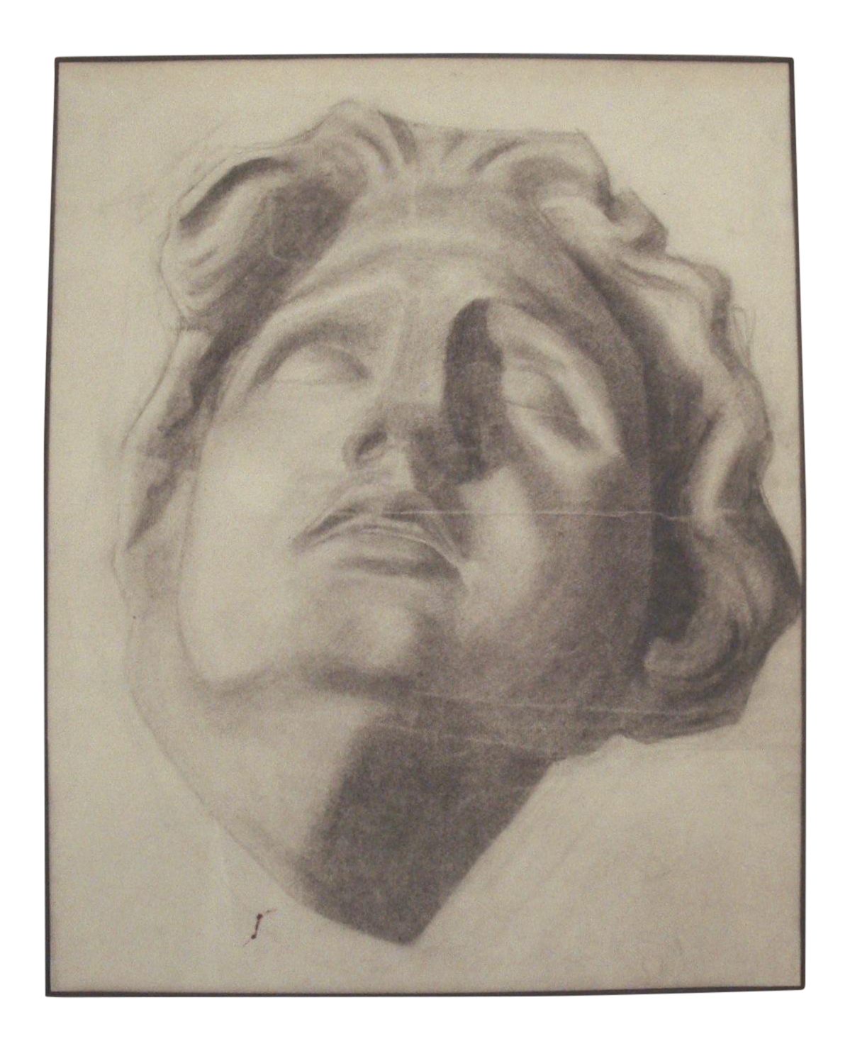 Self drawing charcoal. Of a stone