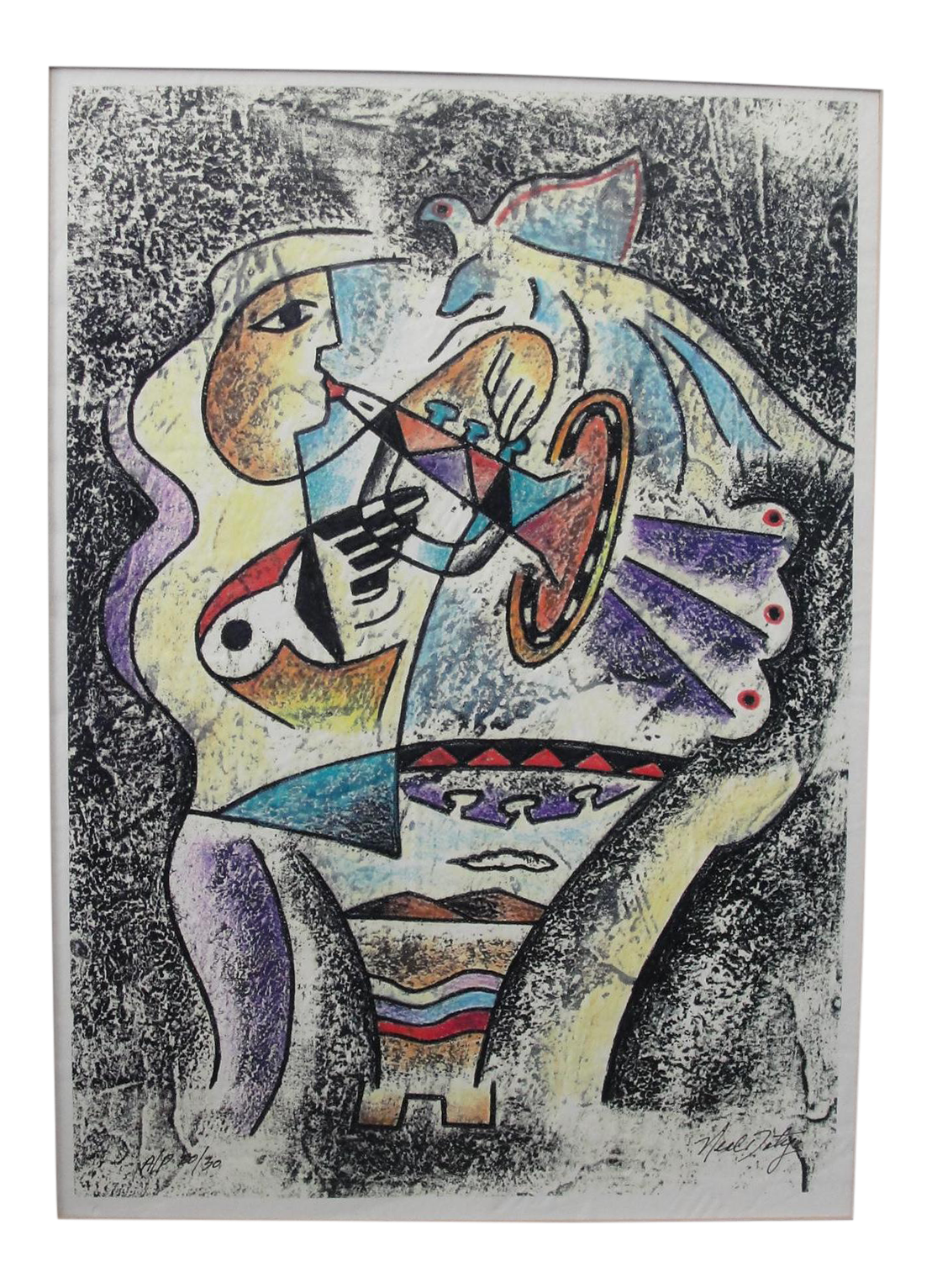 Cubism drawing hand. Neal doty cubist expressionist