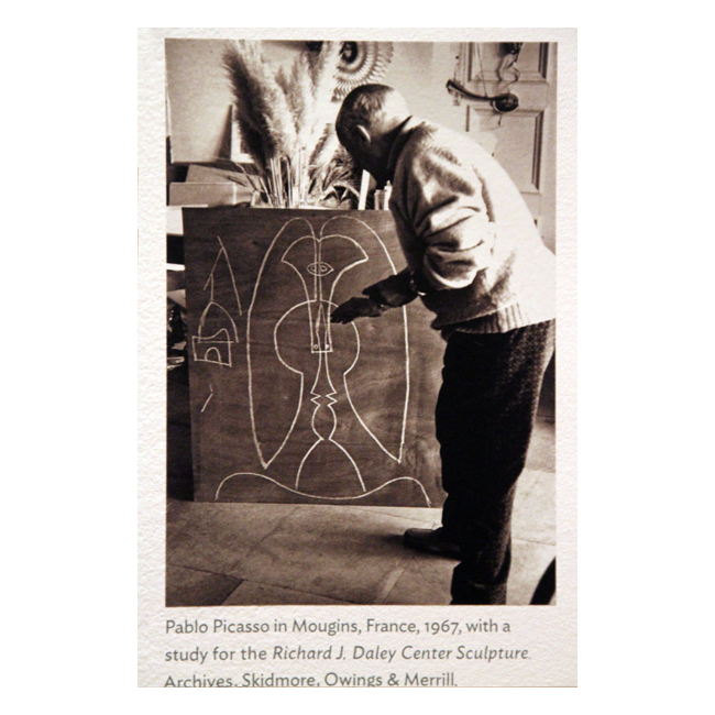 Sculptural drawing famous. The making of picasso
