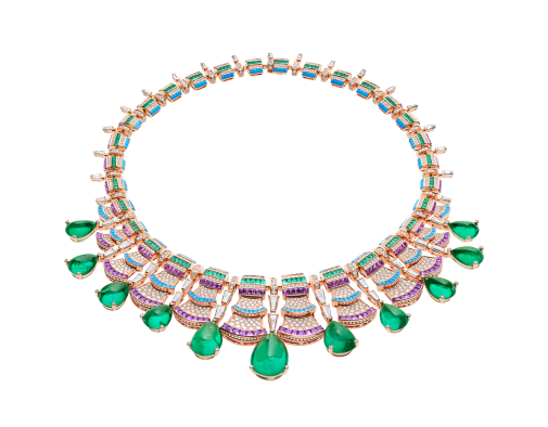 Sculptural drawing jewelry. Necklace roaring s bvlgari